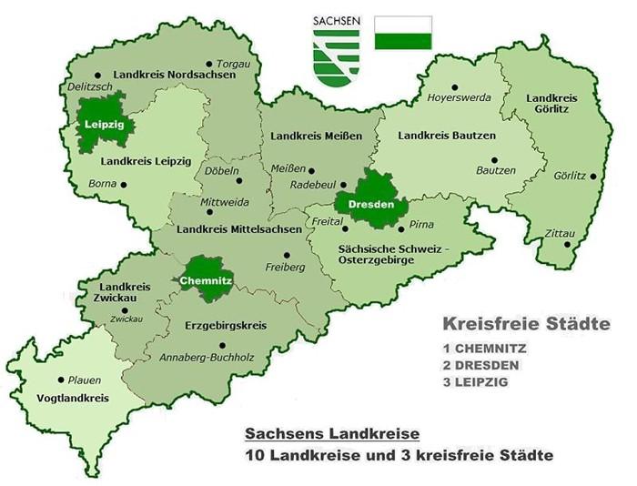 Stadte Und Gemeinden In Sachsen